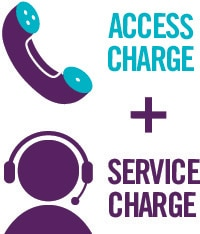 Access and service charge