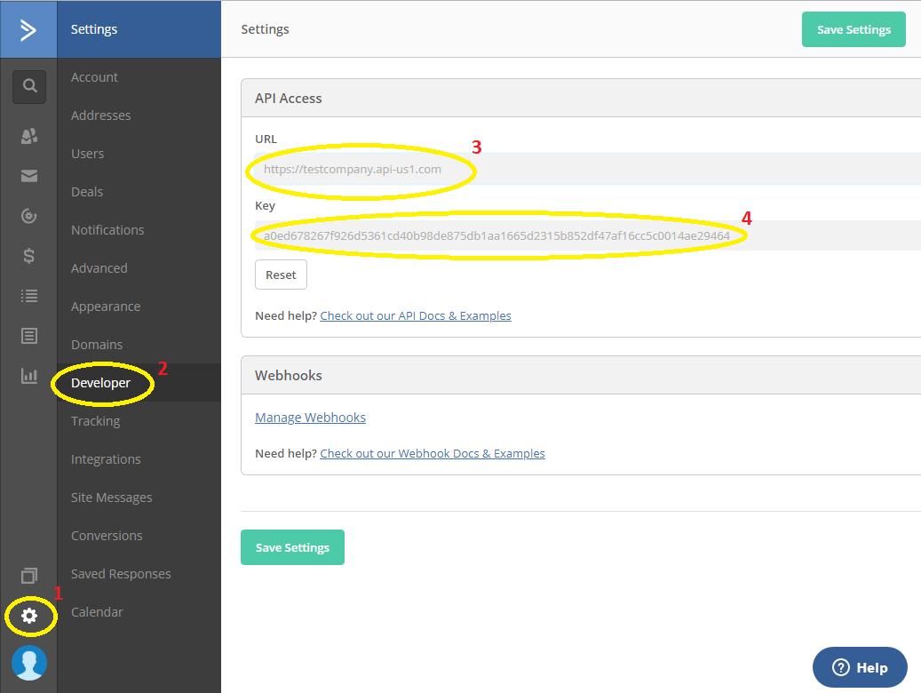 Active Campaign API Key