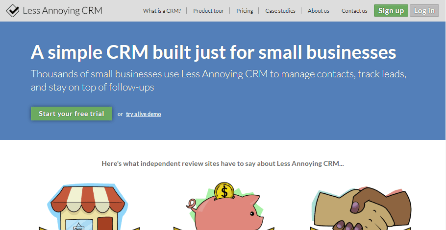 Less Annoying CRM dashboard