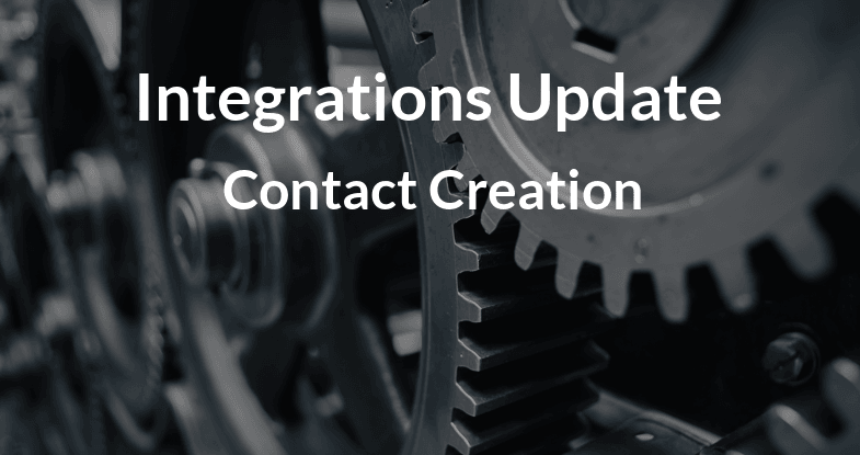 Contact Creation Update